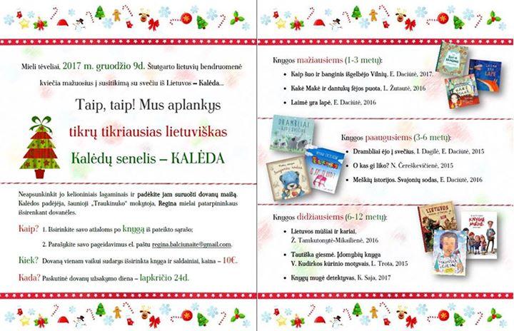 Gruodžio 9d. kalėdinių dovanų užsakymas