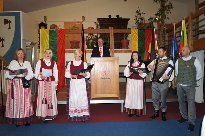 Vasario 16-osios minėjimas  prof. dr. Wolfgang Frhr. v. Stetten rezidencijoje
